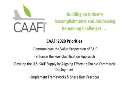 CAAFI 2020 Goals and Priorities and CAAFI 2019 Priorities