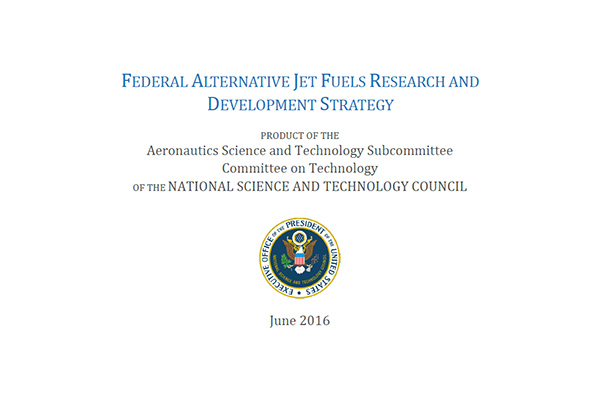reproduction of the cover of the Federal Alternative Jet Fuels Research and Development Strategy