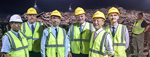 photo of the Marubeni team touring the CT refuse facility